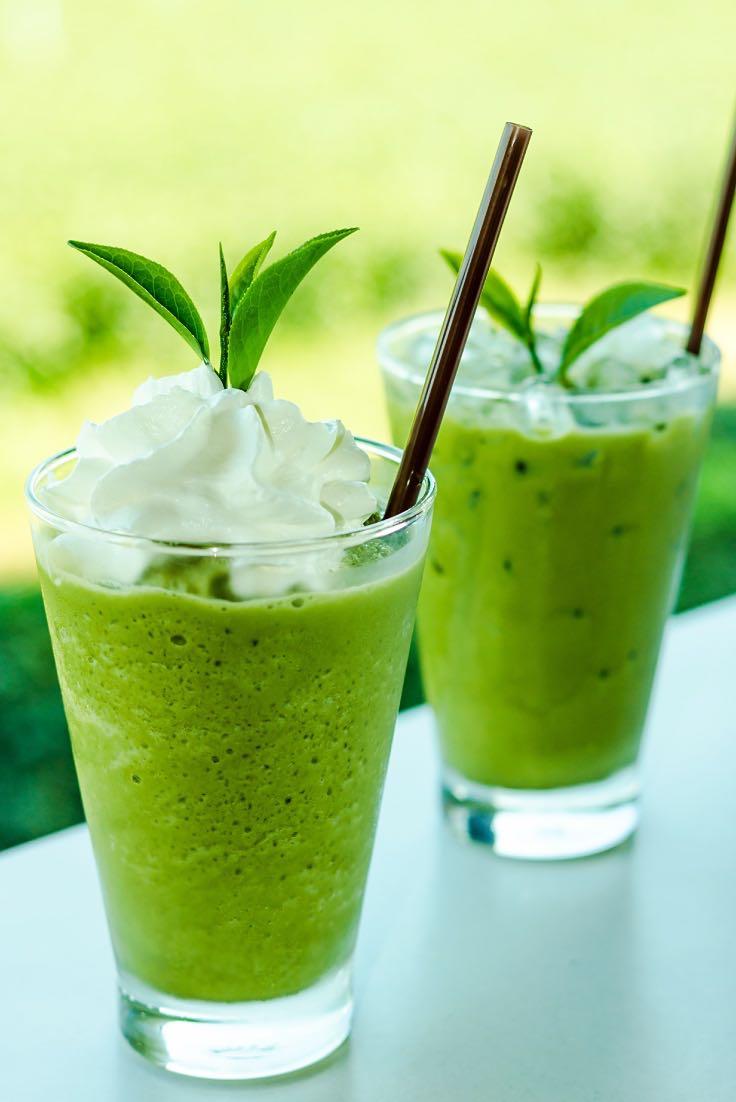 Ledový milkshake ze zeleného čaje Matcha