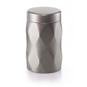 Dóza na čaj Krystal - barva kovovu