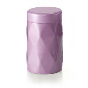 Dóza na sypaný čaj Krystal - růžová