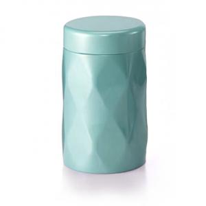Dóza na čaj Krystal - tyrkysová