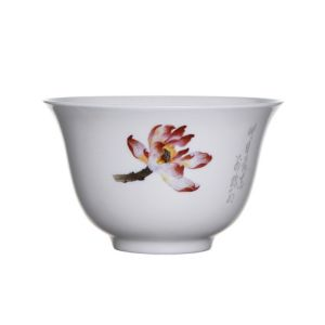 Porcelánová miska na čaj 120ml - květy